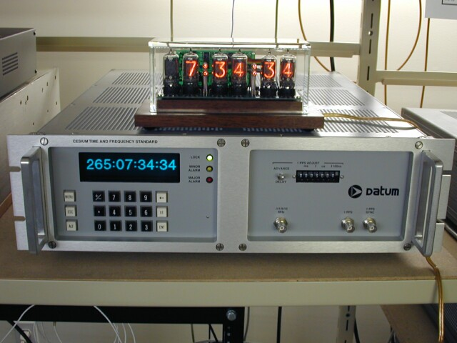 The nixie clock below is powered by a 60 Hz mains generated by a HP 6827A