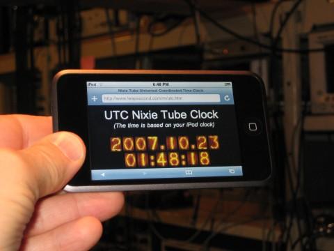 Nixie Tube iPod Clock